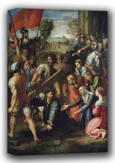Raphael: Christ Falling on the Way to Calvary. Fine Art Canvas. Sizes: A4/A3/A2/A1 (001937)